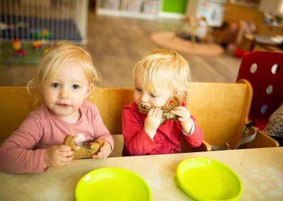 Samen eten bij Jillz Kinderdagverblijf Amstelveen